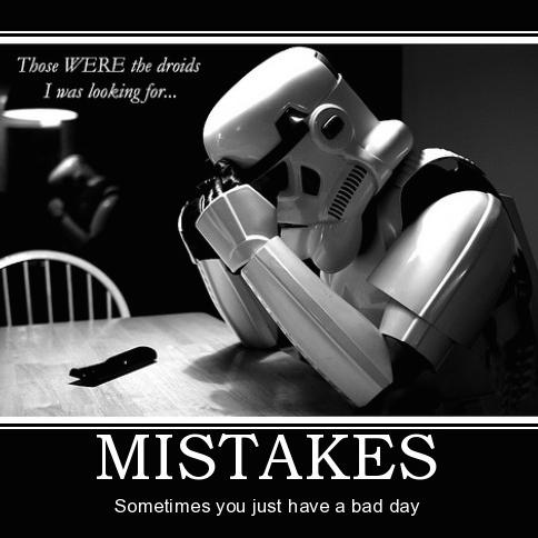 mistakes misstag